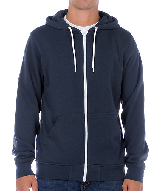 Zine Template Solid Midnight Blue Hoodie