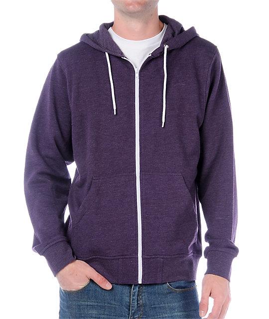 Zine Template Solid Purple Hoodie