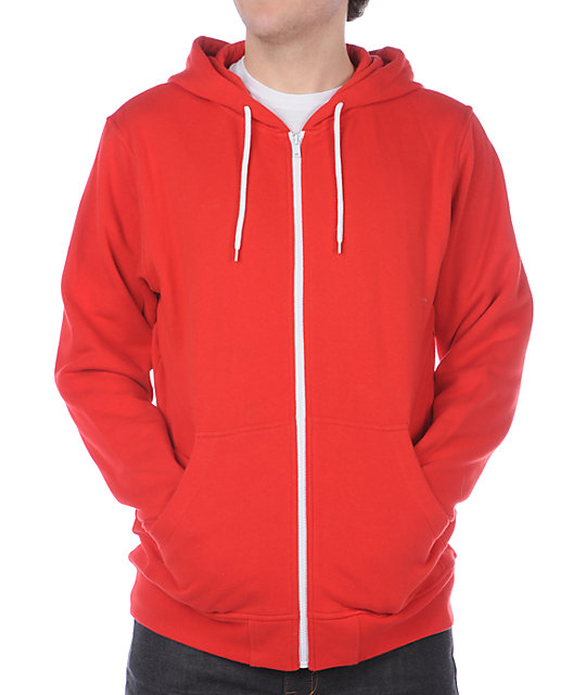 Zine Template Solid Red Hoodie