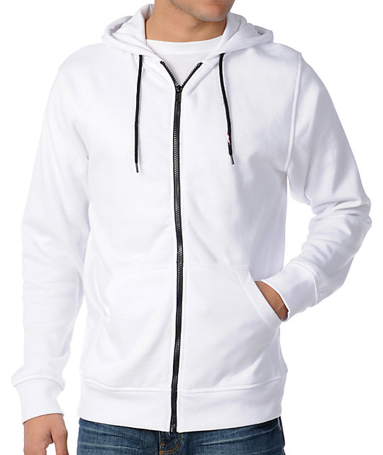Zine Template Solid White Hoodie at Zumiez : PDP