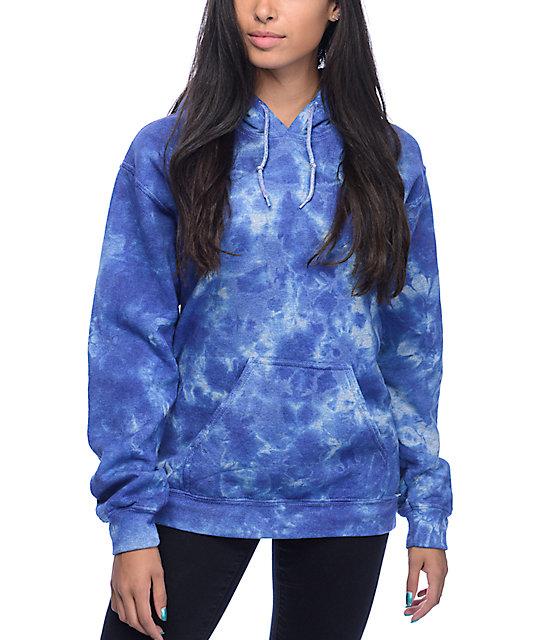 zine tera blue tie dye hoodie at zumiez pdp. Black Bedroom Furniture Sets. Home Design Ideas
