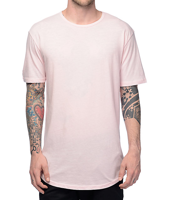 Zine Top Shelf Light Pink Elongated T-Shirt   Zumiez