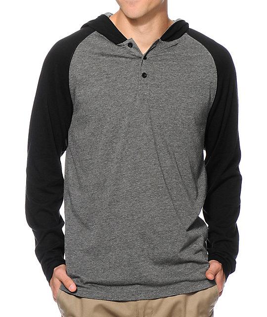 Zine Tracer Hooded Henley Shirt