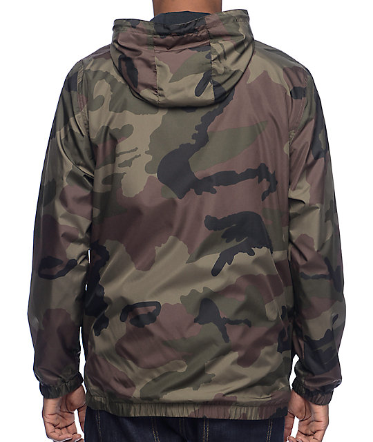Zine Training Camo Lined Windbreaker Jacket