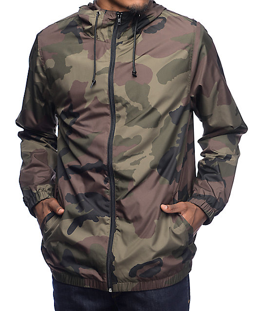 Zine Training Camo Lined Windbreaker Jacket | Zumiez