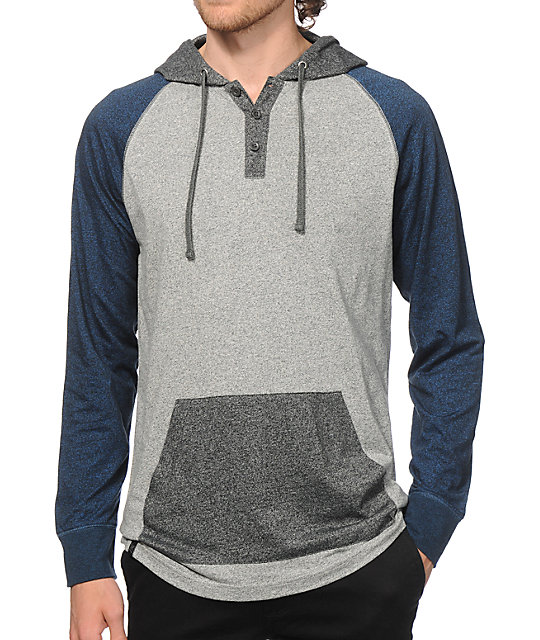Zine Triple Threat Henley Hooded Shirt