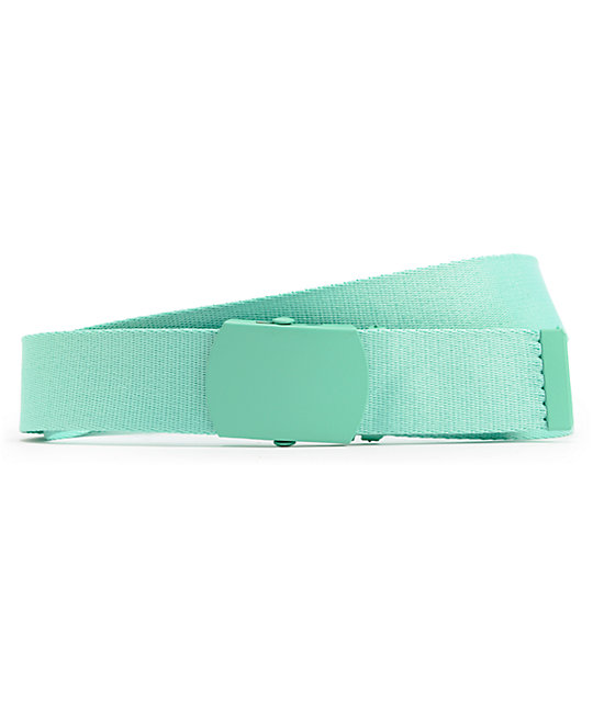 Zine Webster Aqua Blue Web Belt