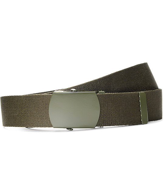 Zine Webster Olive Web Belt