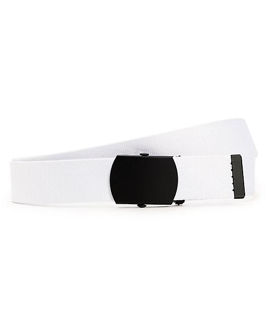 Zine Webster White Web Belt