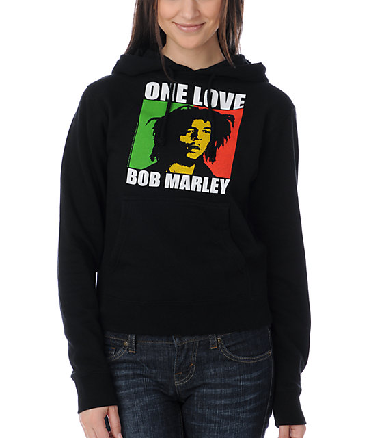 Zion Rootswear One Love Bob Marley Black Sweatshirt
