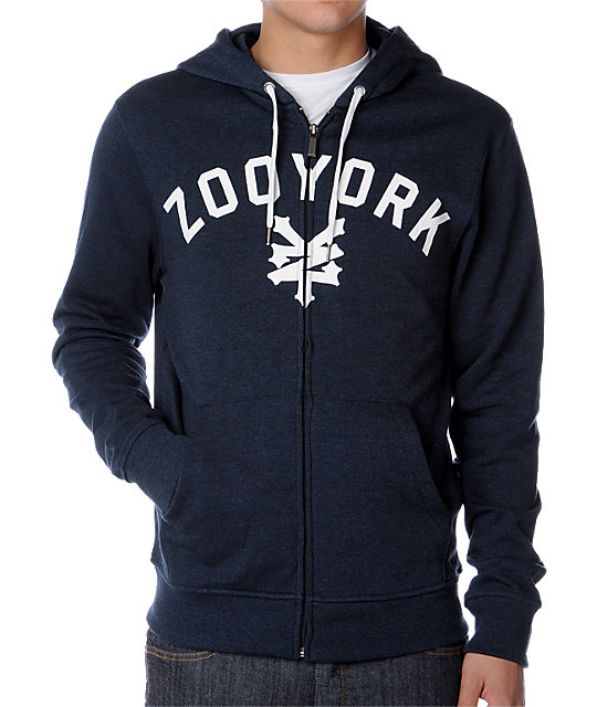 Zoo York Immergruen Heather Navy Hoodie