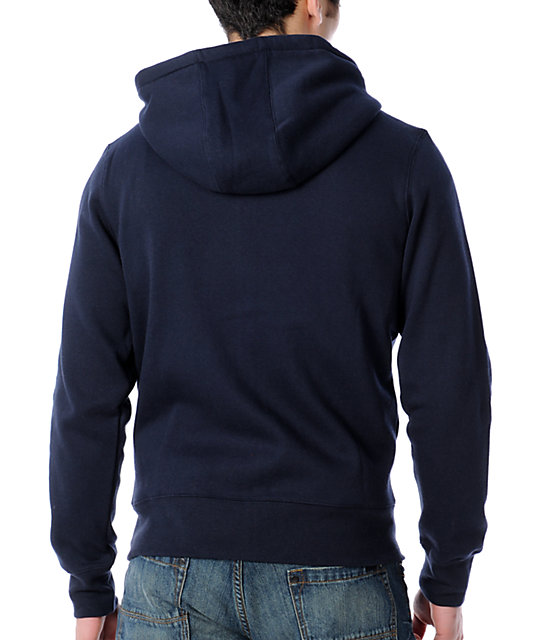 Zoo York Immergruen Navy Zip Up Hoodie