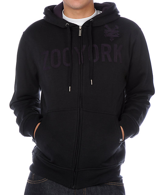 Zoo York Lockdown Black Hoodie