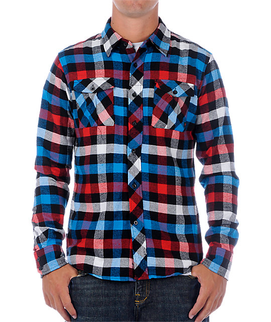 Zoo York Mercury Lounge Red Flannel Shirt