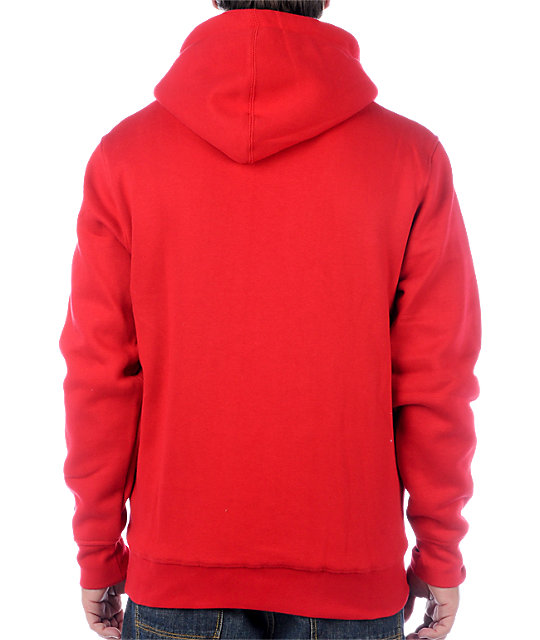 Zoo York Straight Core Red Hoodie