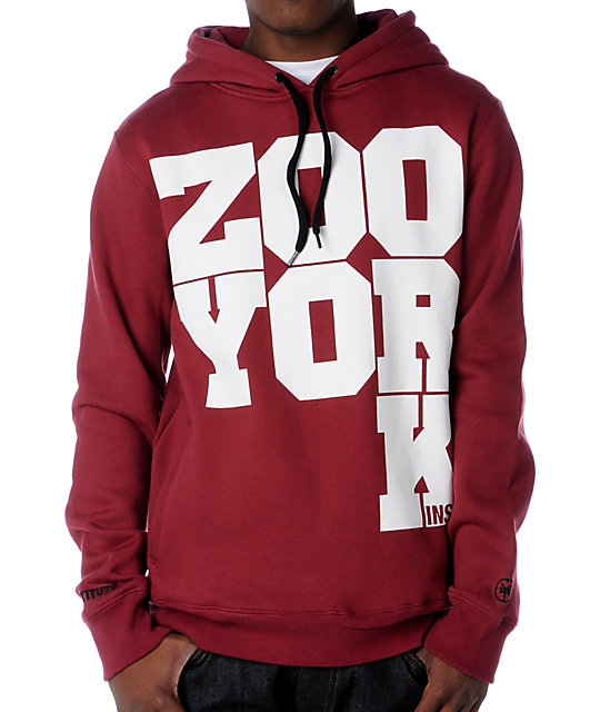 Zoo York Westgate Cranberry Pullover Hoodie