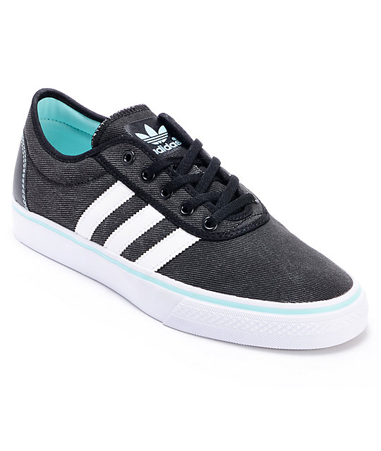 adidas adi ease black white canvas shoes at zumiez pdp
