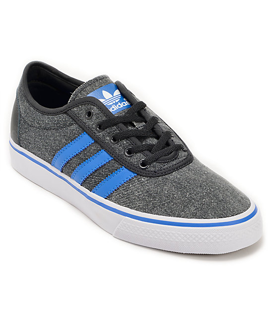 adidas Adi Ease Dark Shale, Bluebird, & Running White Skate Shoes