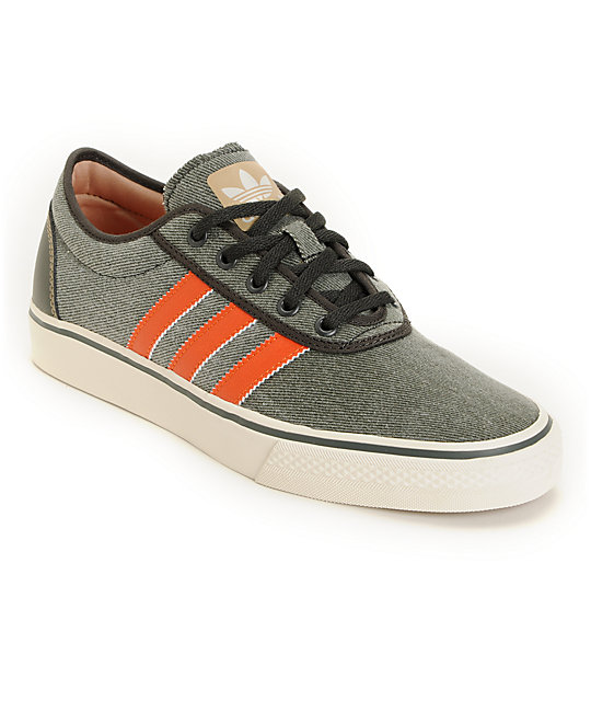 adidas Adi Ease Grey & Orange Canvas Shoes