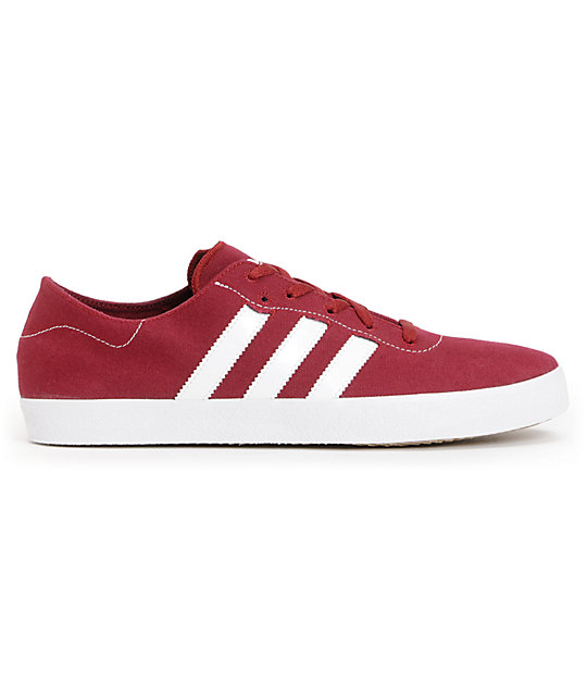 adidas Adi Ease Surf Cardinal Red & Running White Canvas Shoes