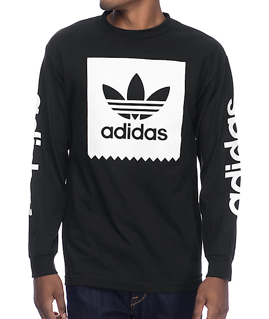 adidas Blackbird Black Long Sleeve TShirt at Zumiez : PDP