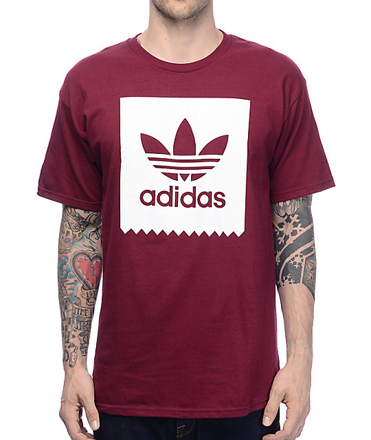 adidas Blackbird Burgundy T-Shirt