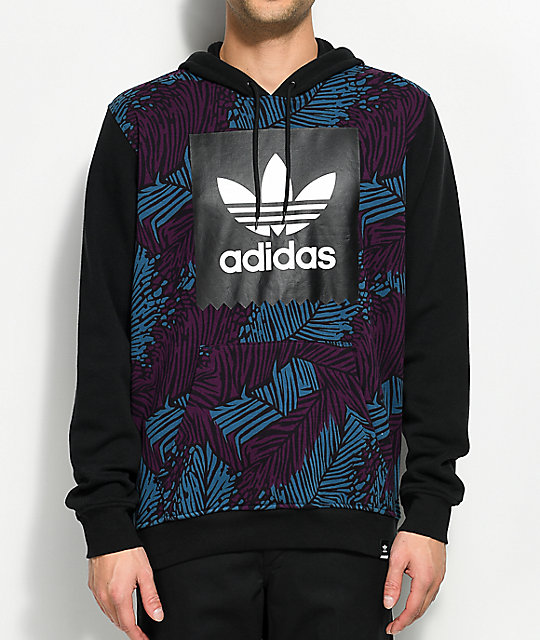 adidas Blackbird Palm Blue & Black Hoodie