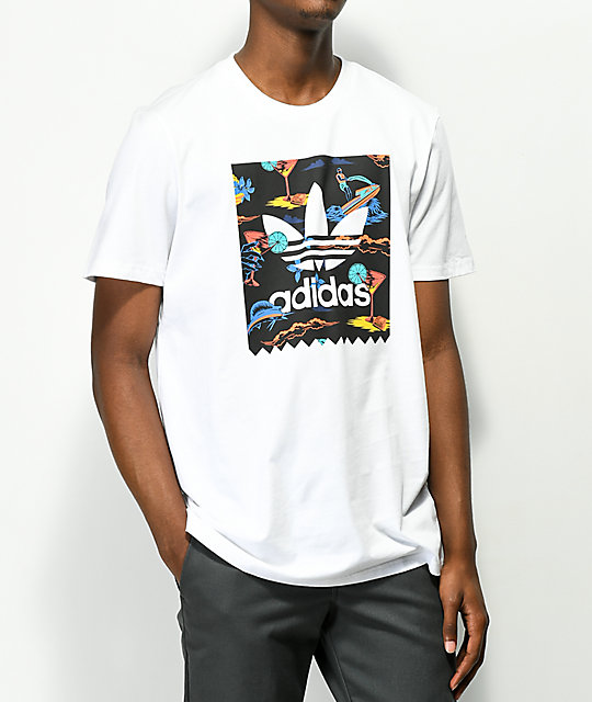 Adidas Blackbird Resort White T Shirt by Adidas