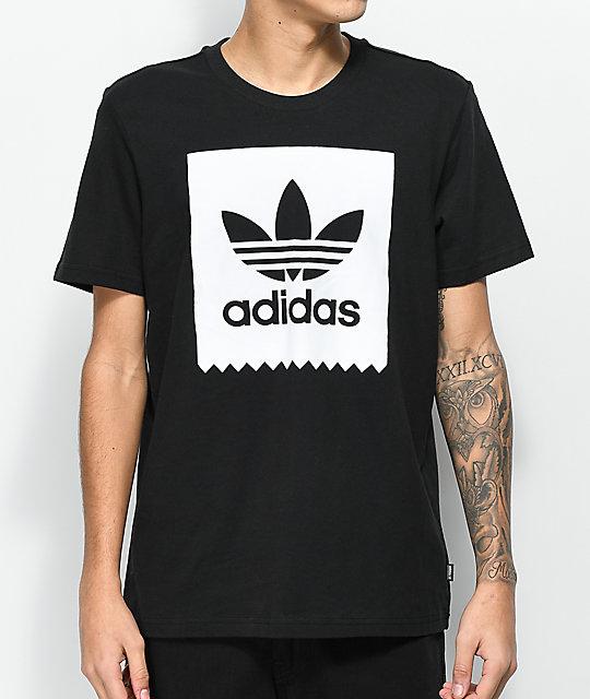 adidas blackbird solid black amp white tshirt zumiez