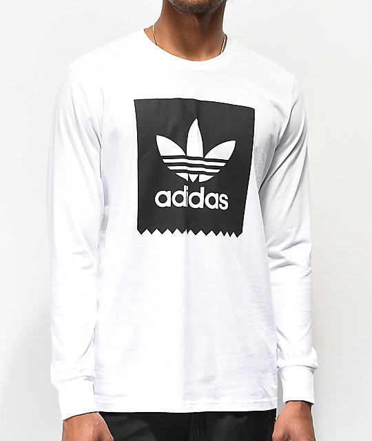 Larga Blanca Camiseta Manga Blackbird De Adidas WE92YeHID