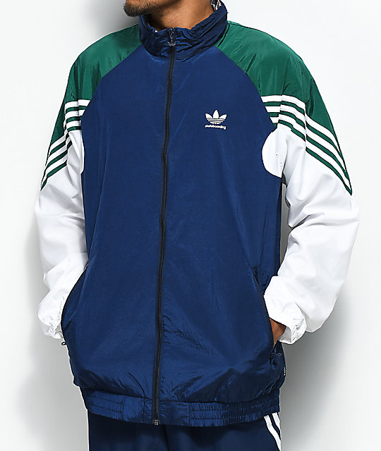adidas Blue, Green & White Lightweight Track Jacket