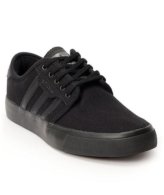 adidas Boys Seeley Black & Dark Cinder Shoes
