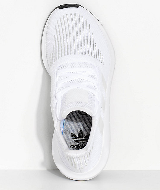 adidas Boys Swift Run White & Crystal Shoes