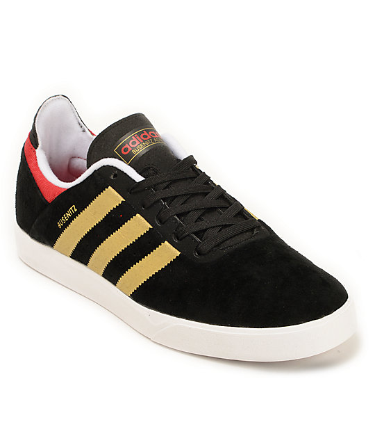 adidas Busenitz ADV Black, Gold & Red Shoes