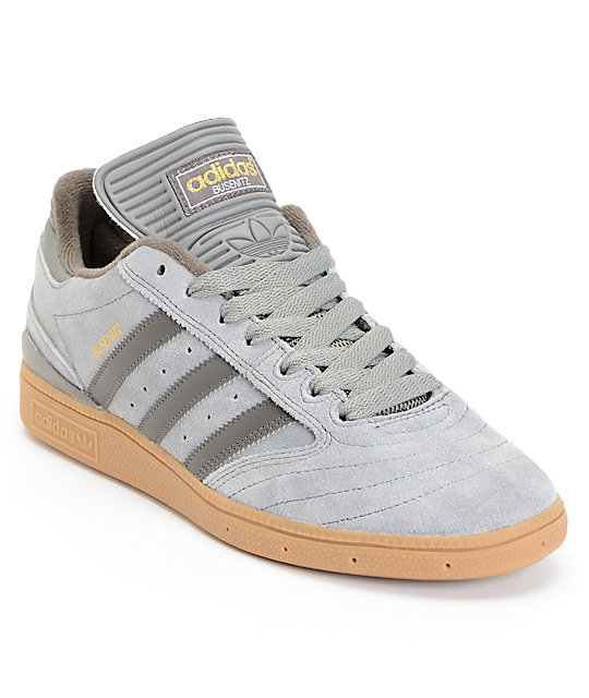 adidas Busenitz Grey, Charcoal, & Gum Skate Shoes