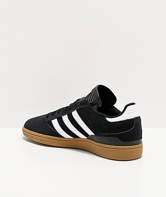adidas Busenitz Pro Black, White, & Gum Shoes