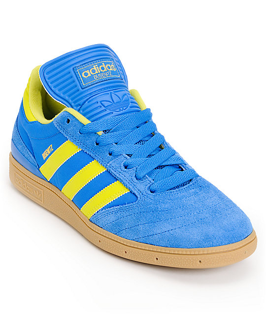 adidas Busenitz Pro Bluebird, Lab Lime & Gum Skate Shoes