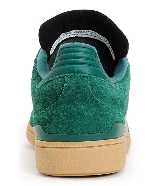 adidas Busenitz Pro Forest Green, Silver & Gum Shoes
