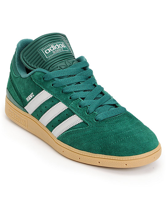adidas Busenitz Pro Forest Green, Silver & Gum Skate Shoes