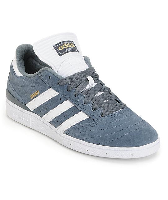 adidas Busenitz Pro Grey, White & Gold Skate Shoes