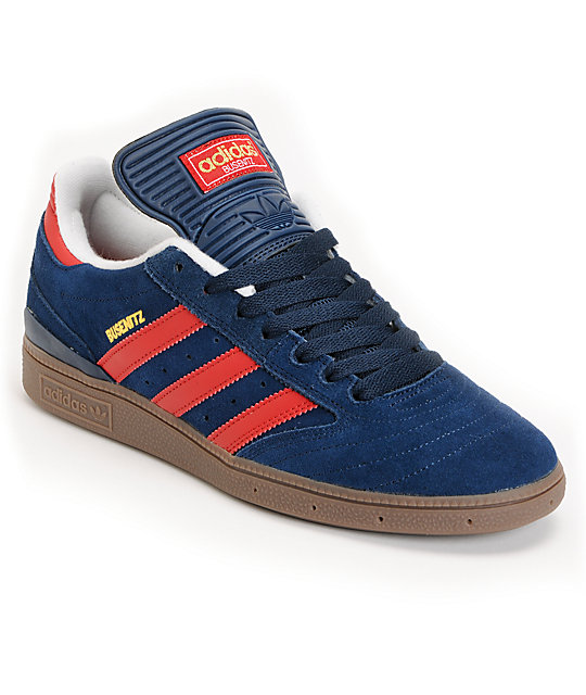 adidas Busenitz Pro Navy, Red & Gum Skate Shoes