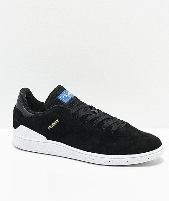 new arrival eb753 f4824 adidas busenitz black leather
