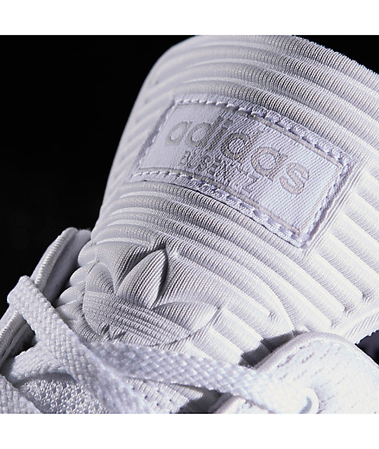adidas Busenitz Pure Boost Prime Mono White Shoes
