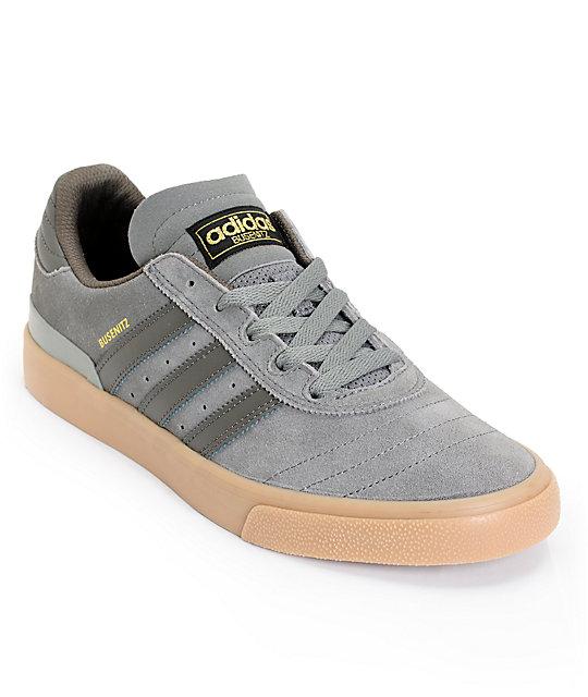 adidas Busenitz Vulc All Grey & Gum Skate Shoes