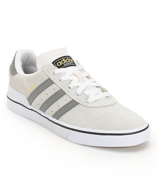 adidas Busenitz Vulc Grey & White Skate Shoes