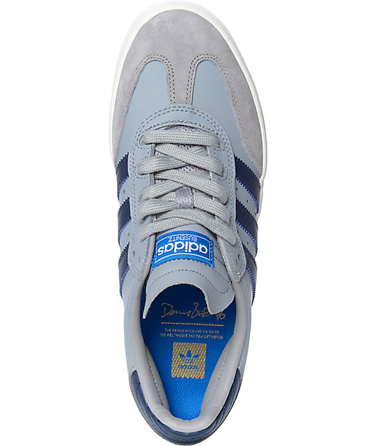 adidas Busenitz Vulc Samba Grey & Navy Shoes