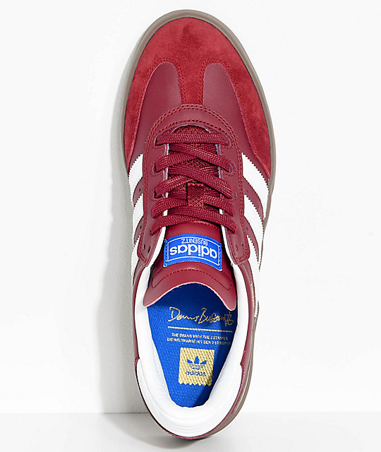 adidas Busenitz Vulc Samba RX Burgundy & White Shoes