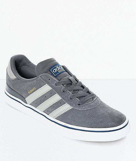 adidas Busenitz Vulc Sesame Grey \u0026 White Shoes