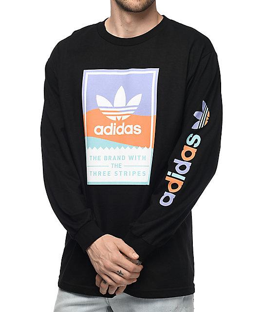 adidas Classic Black Long Sleeve T-Shirt