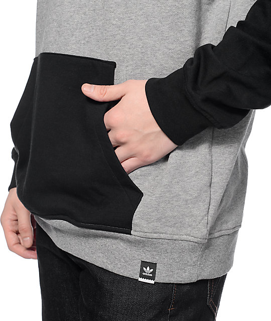 adidas Clima 3.0 Black & Heather Grey Hoodie
